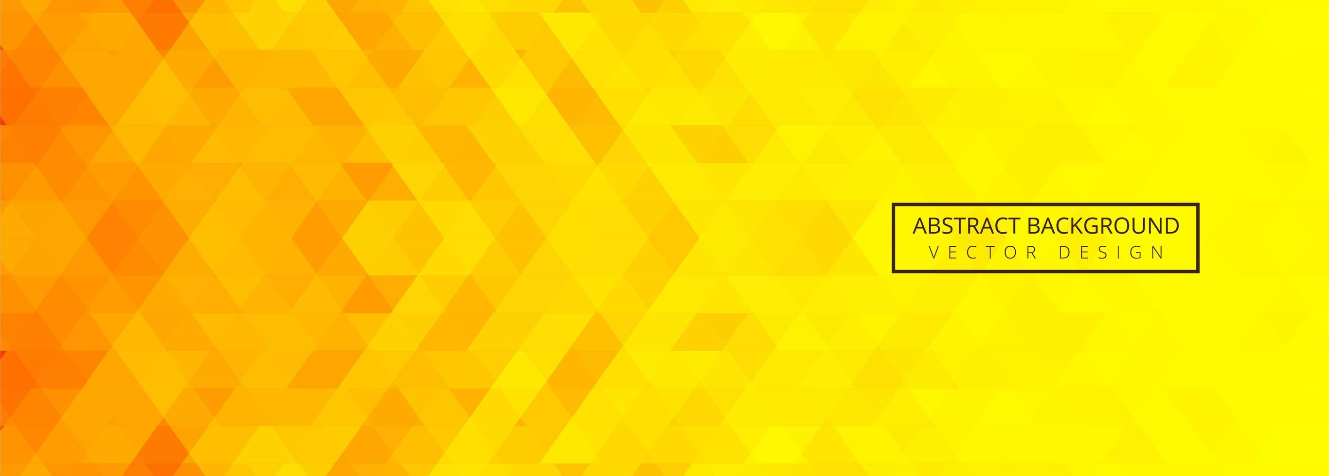 Abstract orange and yellow geometric tile banner  vector