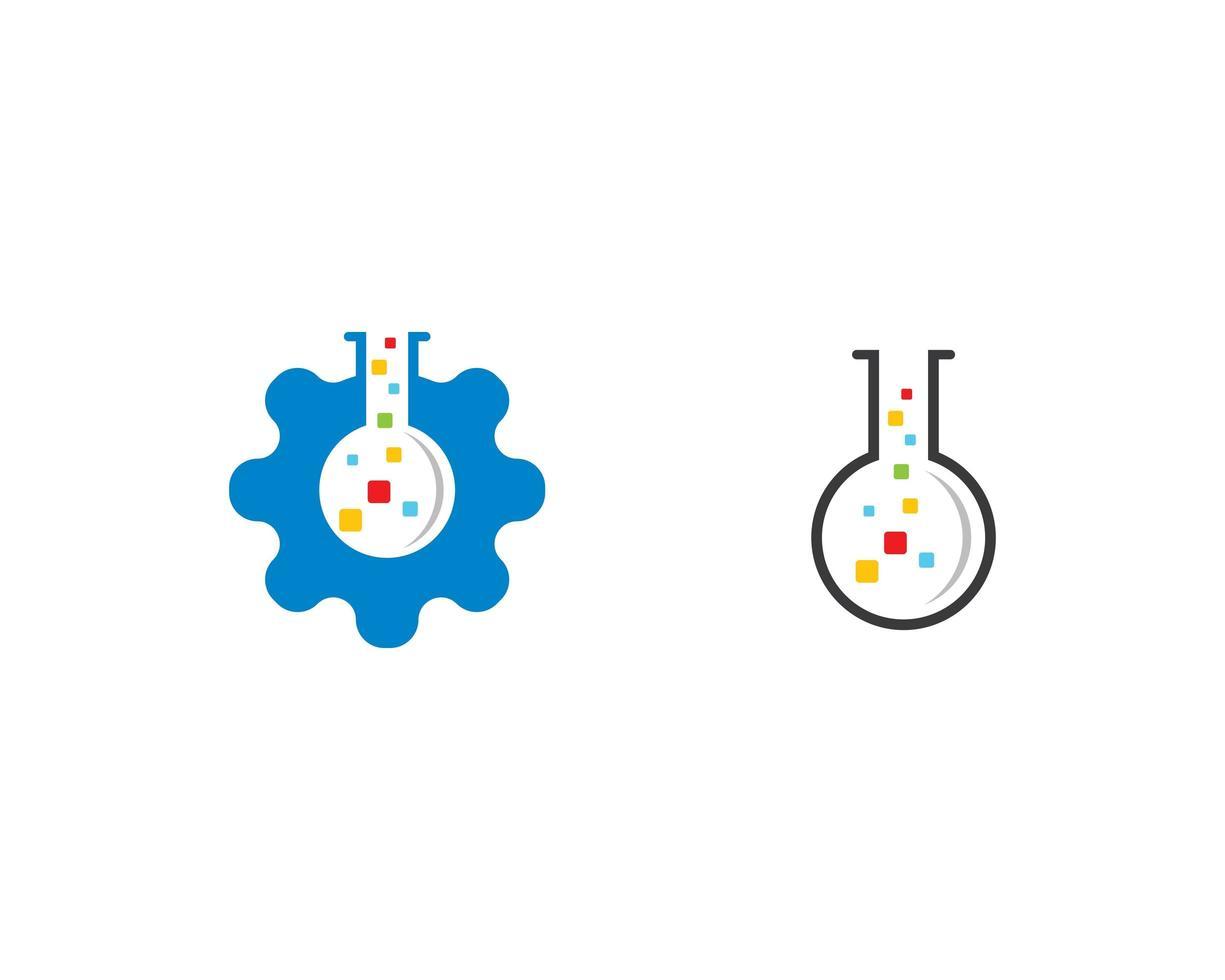Laboratory logo template  vector