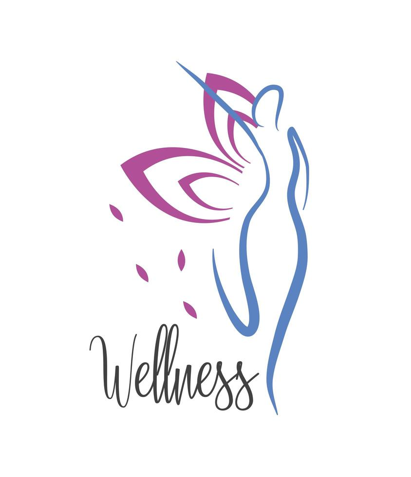 Woman wellness and healthy lifestyle icon vector