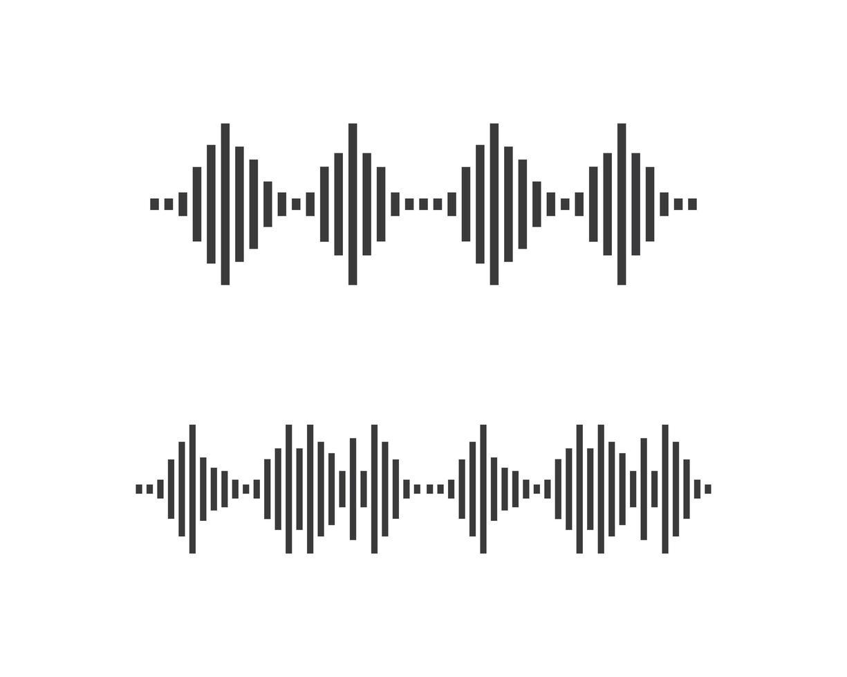 vector de conjunto de logotipo de onda de sonido