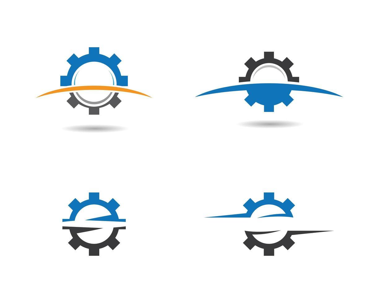 conjunto de iconos de engranaje vector
