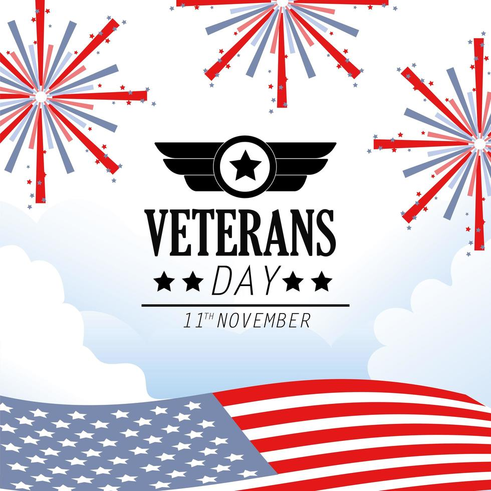 diseño de celebración del día de los veteranos y conmemoración vector