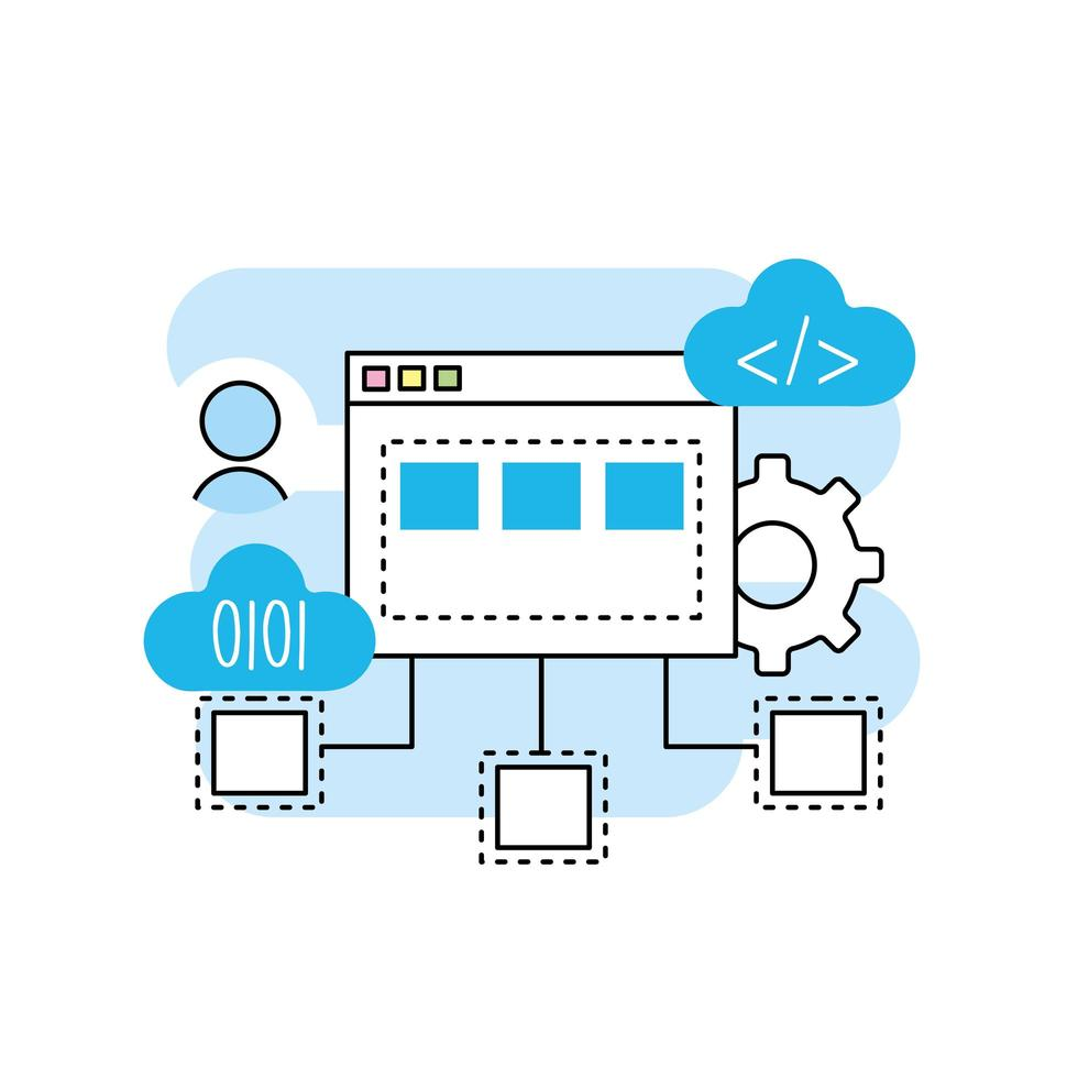 Programming and coding technology vector