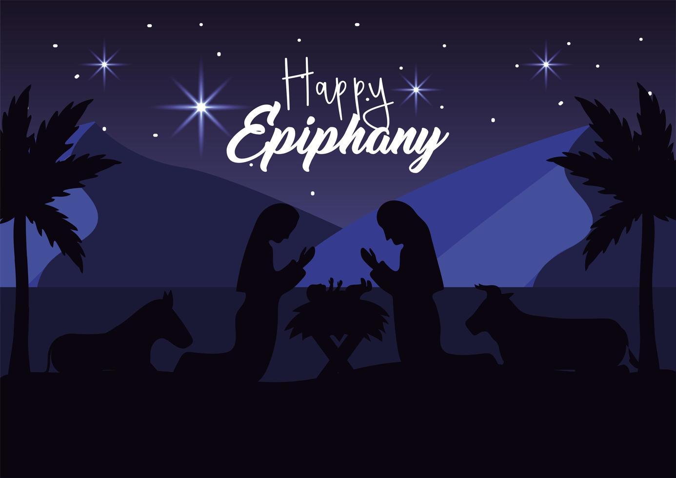 o cartão comemorativo da natividade de jesus vetor