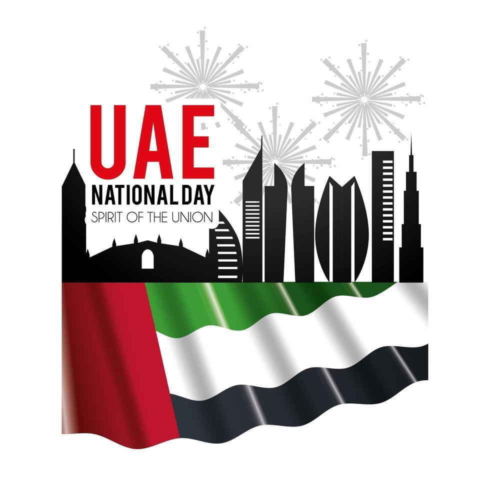 celebración del día nacional de los emiratos árabes unidos vector