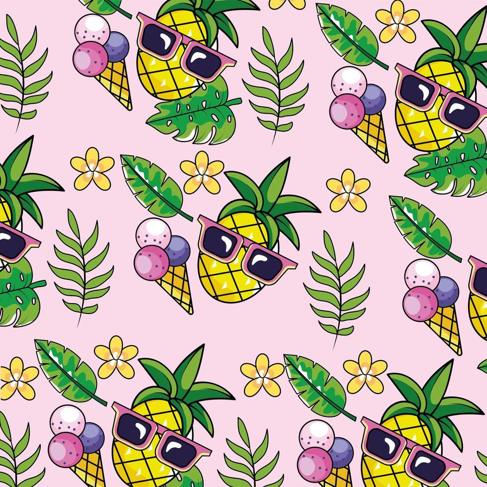 tropical engraçado padrão de fundo vetor