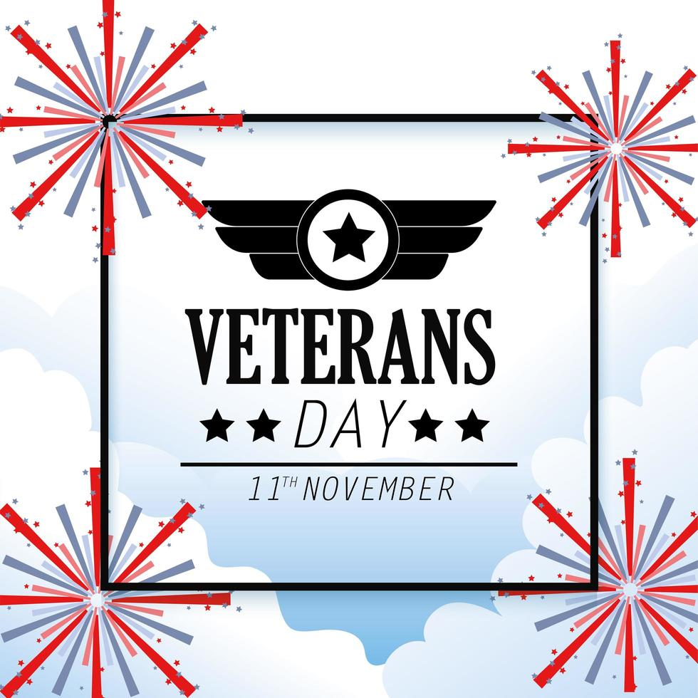 Veterans and memorial day celebration design vector