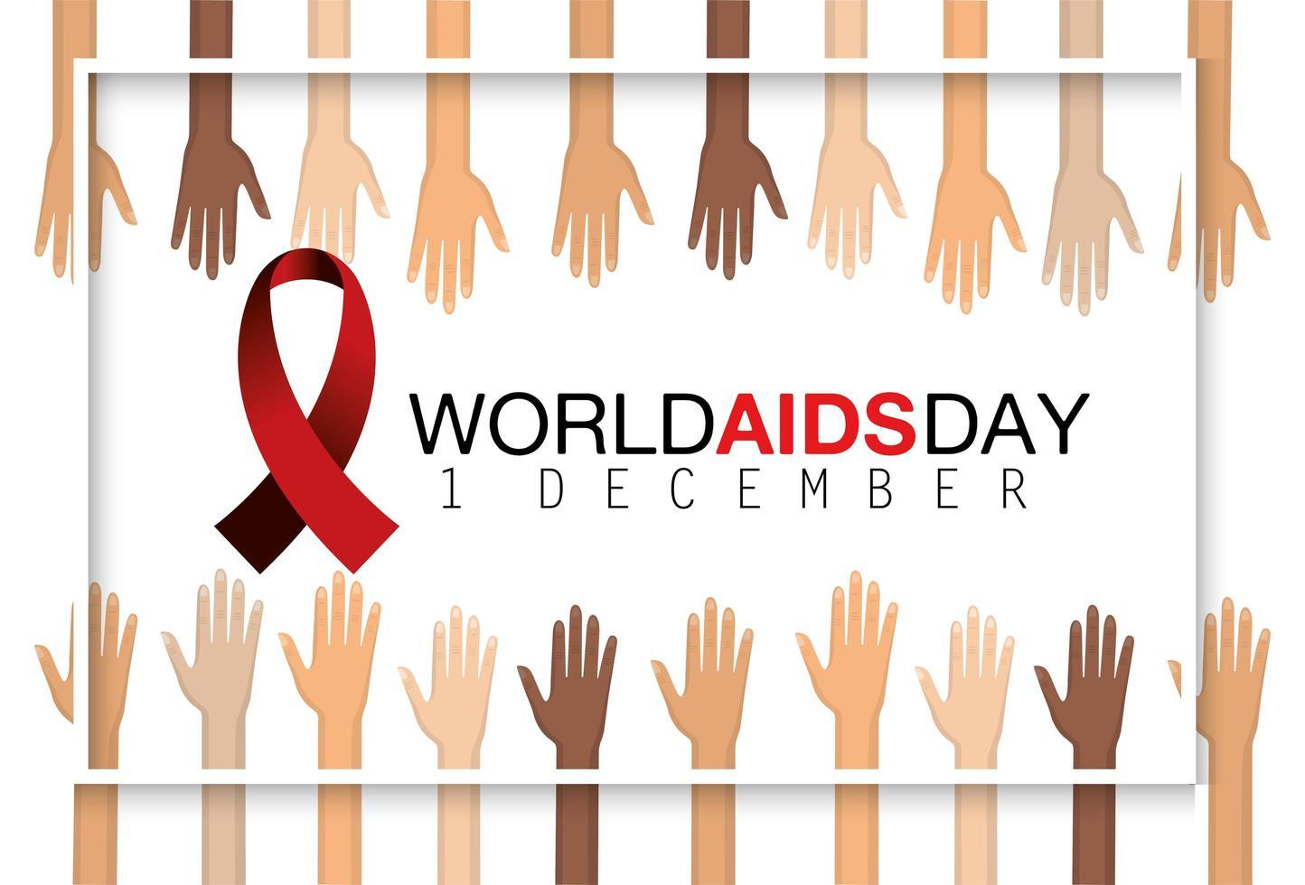 banner de prevenção do dia mundial da aids vetor