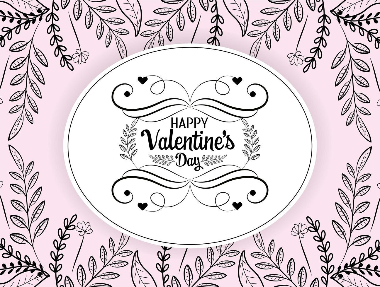 cartão boêmio do dia dos namorados vetor