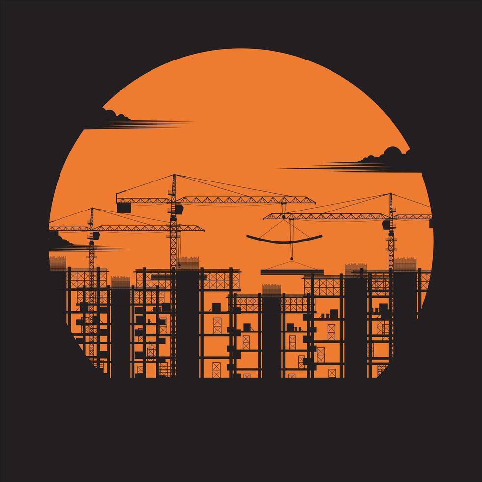 prédio em construção vetor