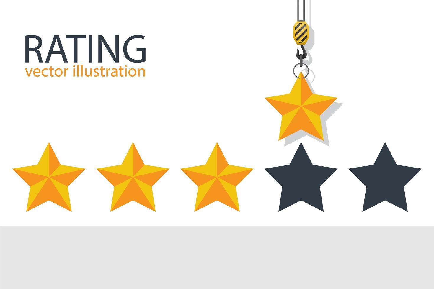 classificação do gancho do guindaste 4 estrelas vetor
