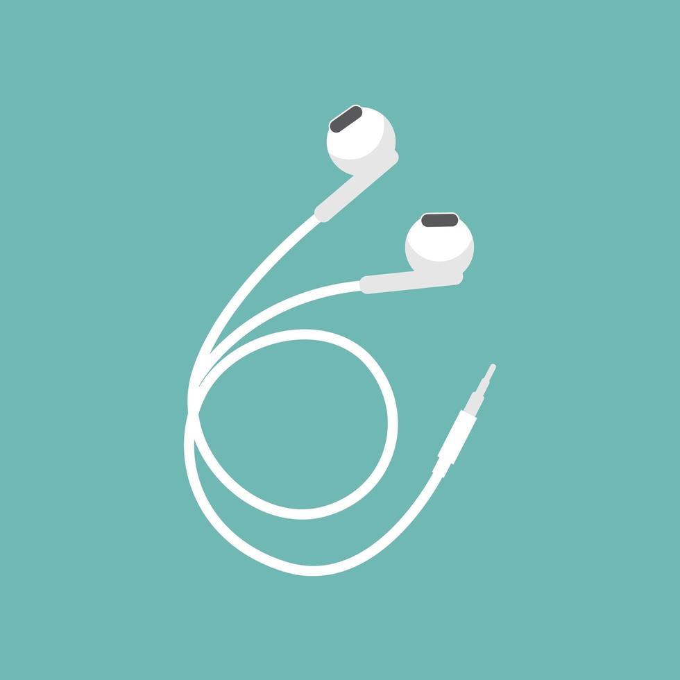 diseño de auriculares blancos vector