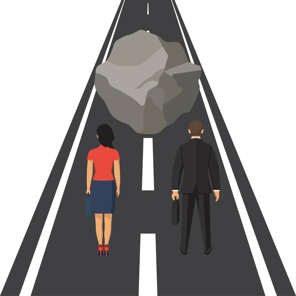 concepto de obstáculo empresarial vector