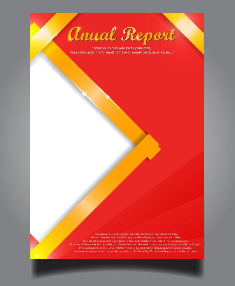 relatório anual do vetor moderno vermelho