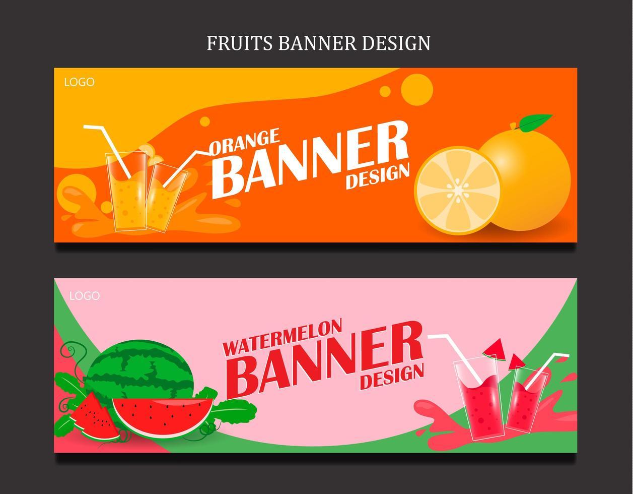 definir banner para suco fresco de frutas vetor