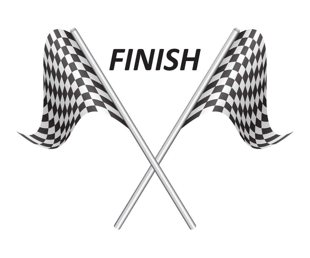 bandeiras xadrez de corrida vetor