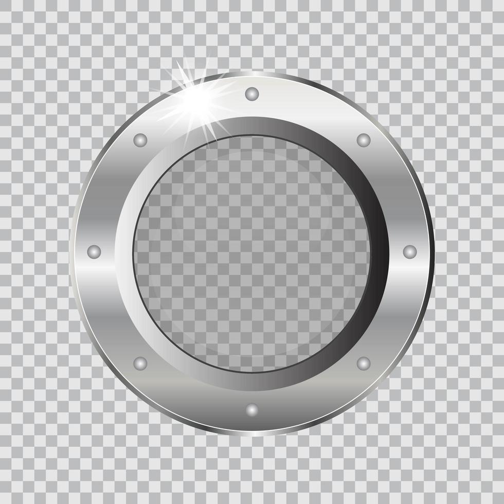 ojo de buey de barco de metal vector