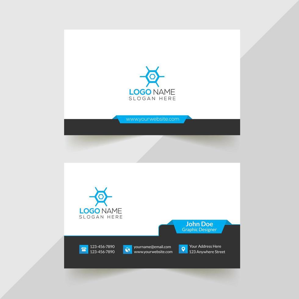 diseño de tarjeta de visita corporativa vector