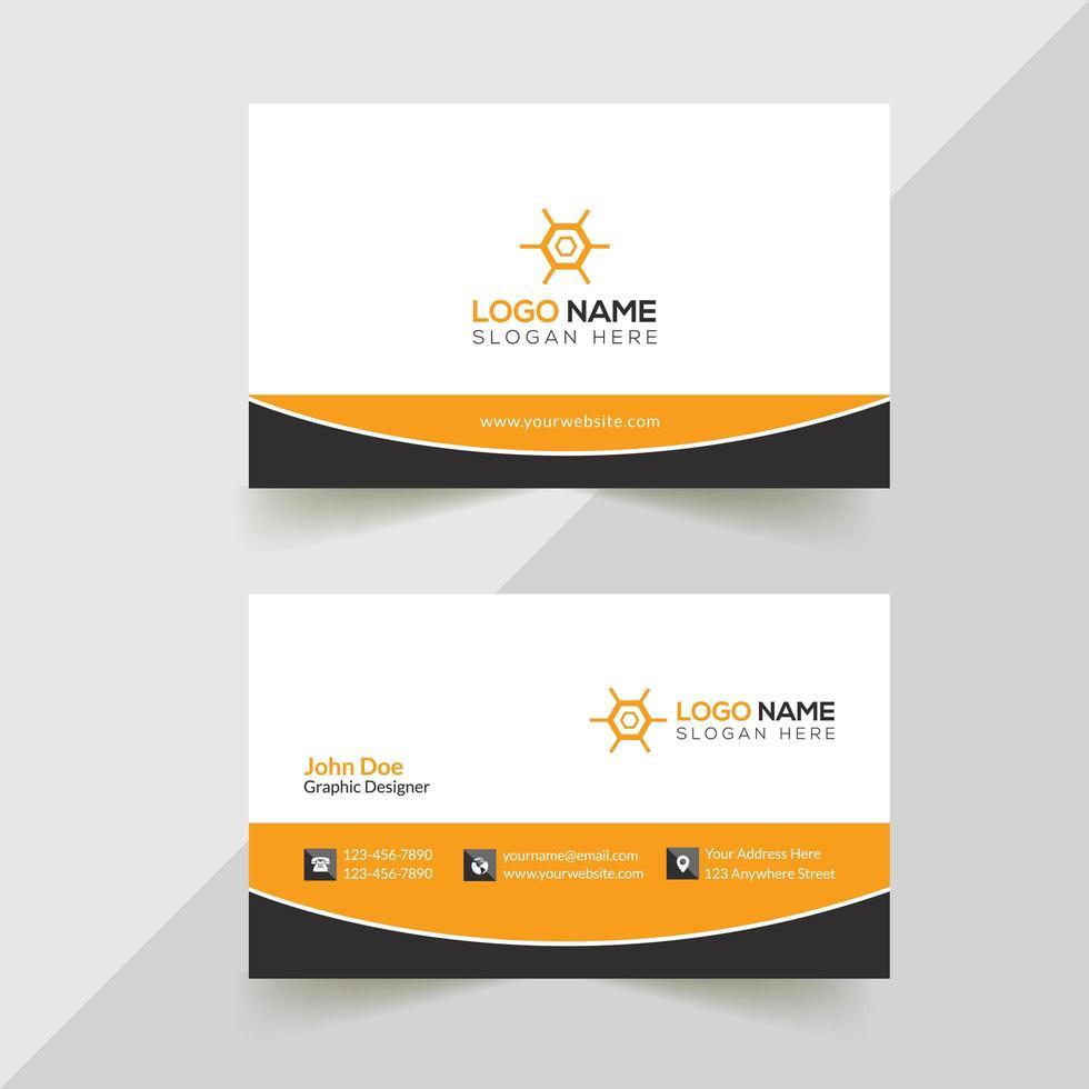 diseño creativo de tarjetas de visita vector
