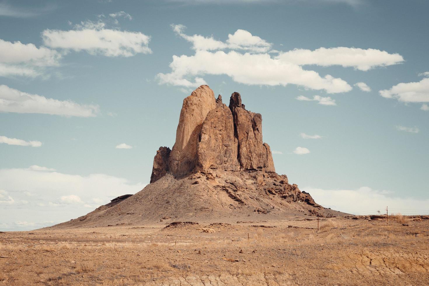 Rock formation in desert photo