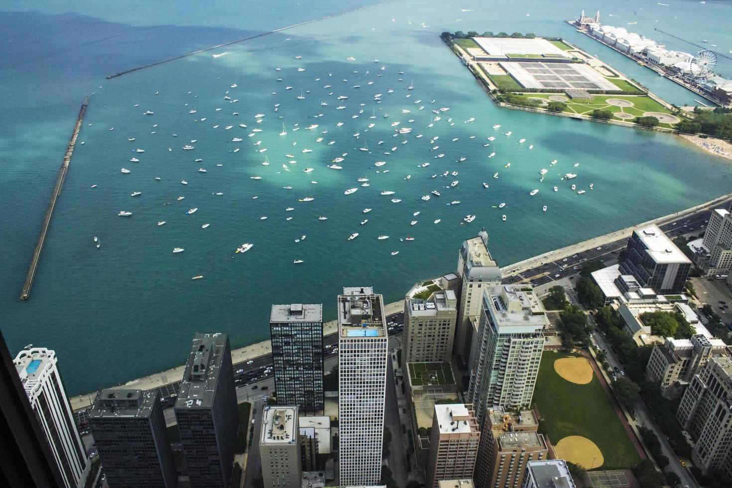 vista aerea de chicago foto