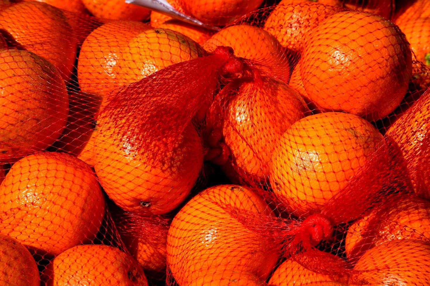 naranjas en el mercado foto