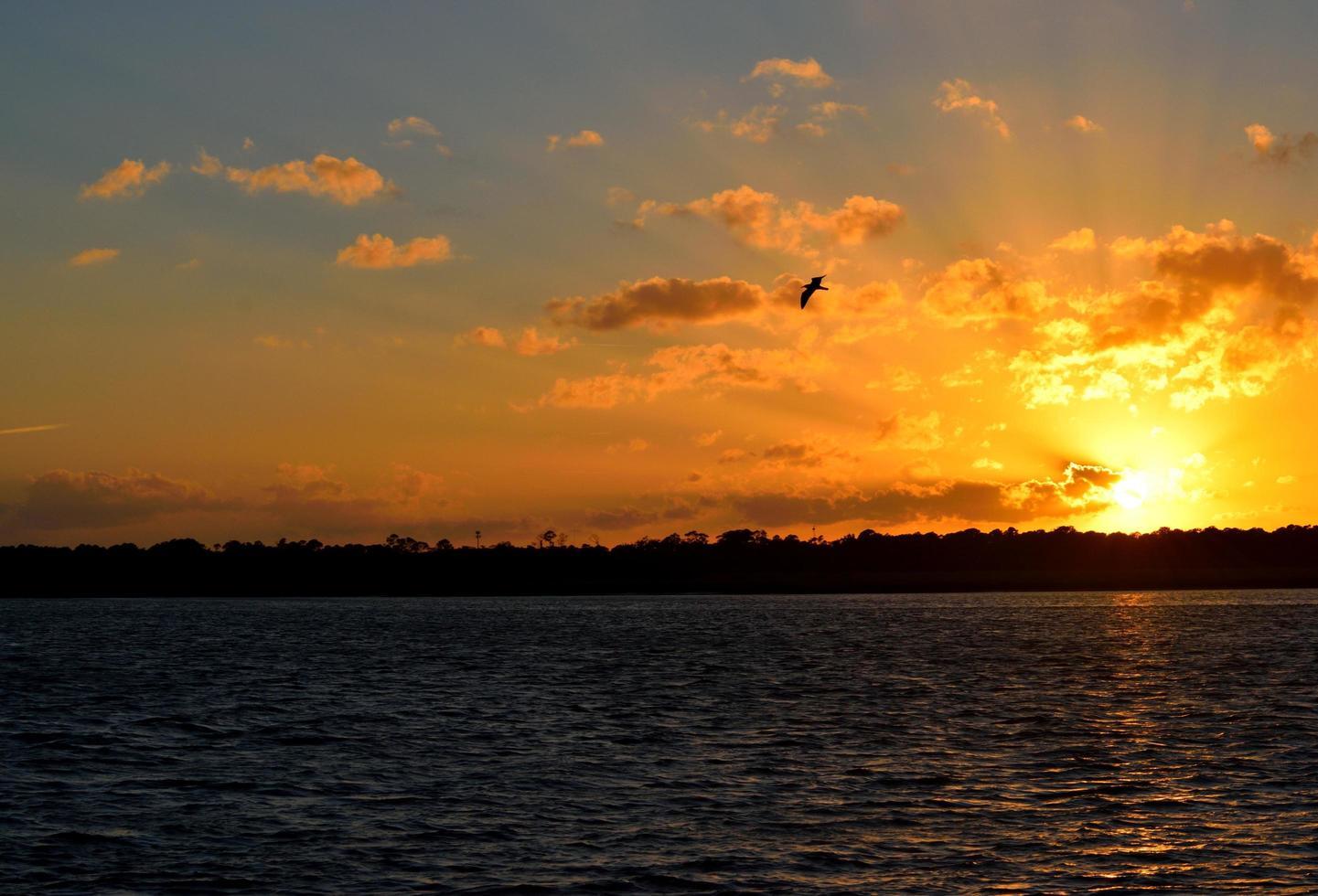 zonsondergang bij st. Augustine foto