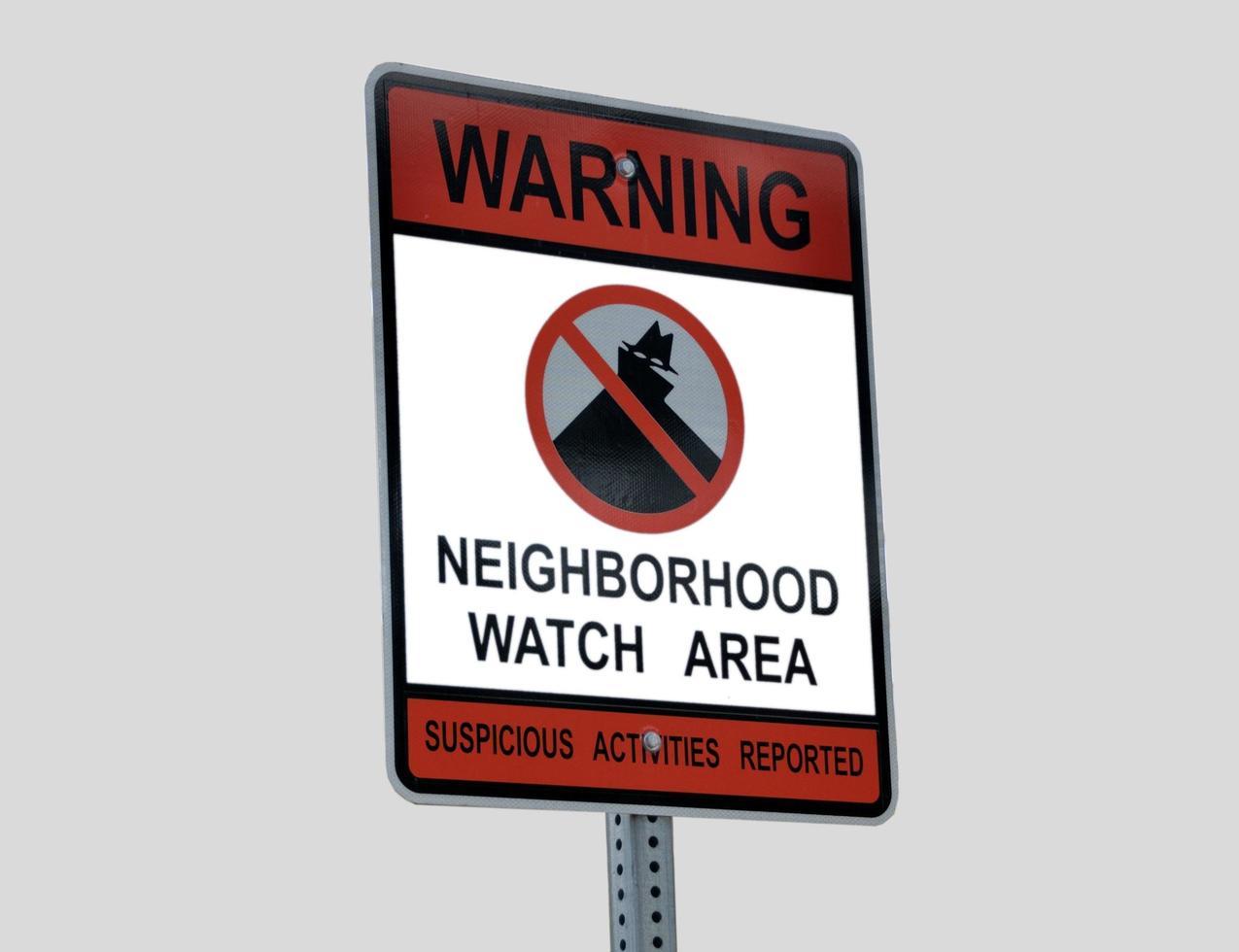Neighborhood watch sign photo
