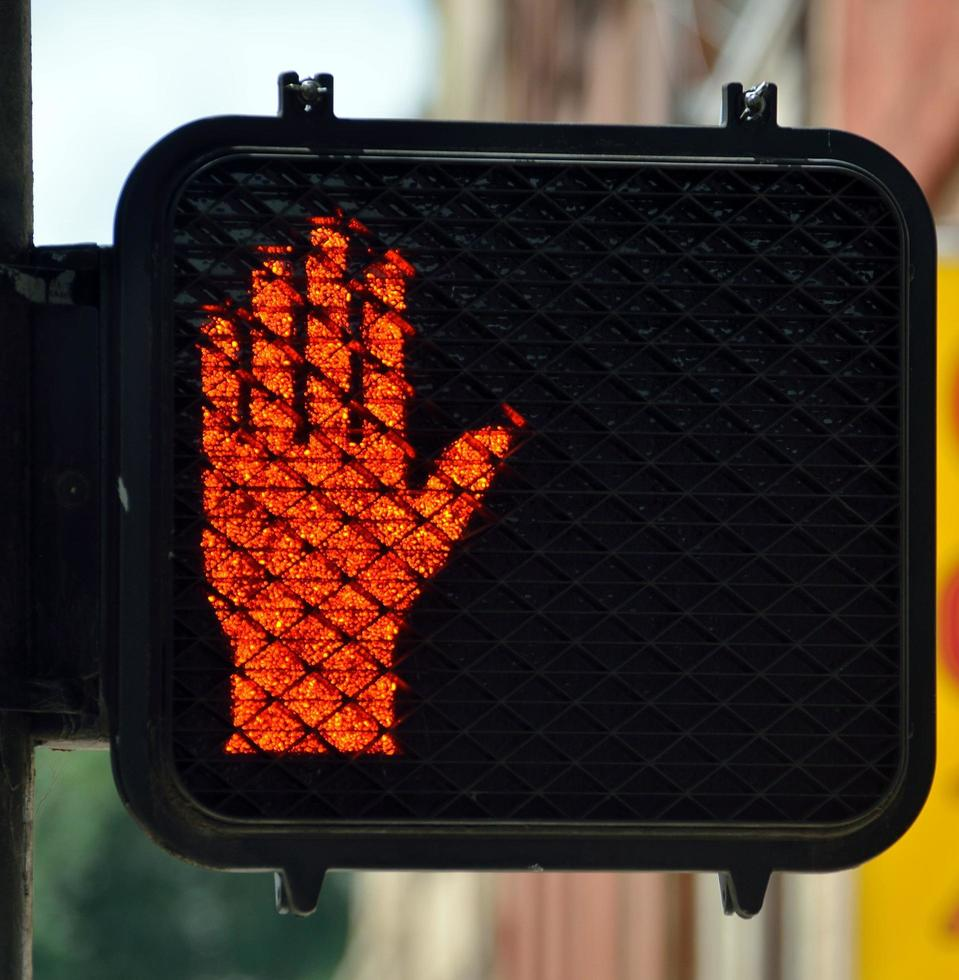 Stop crossing signal photo