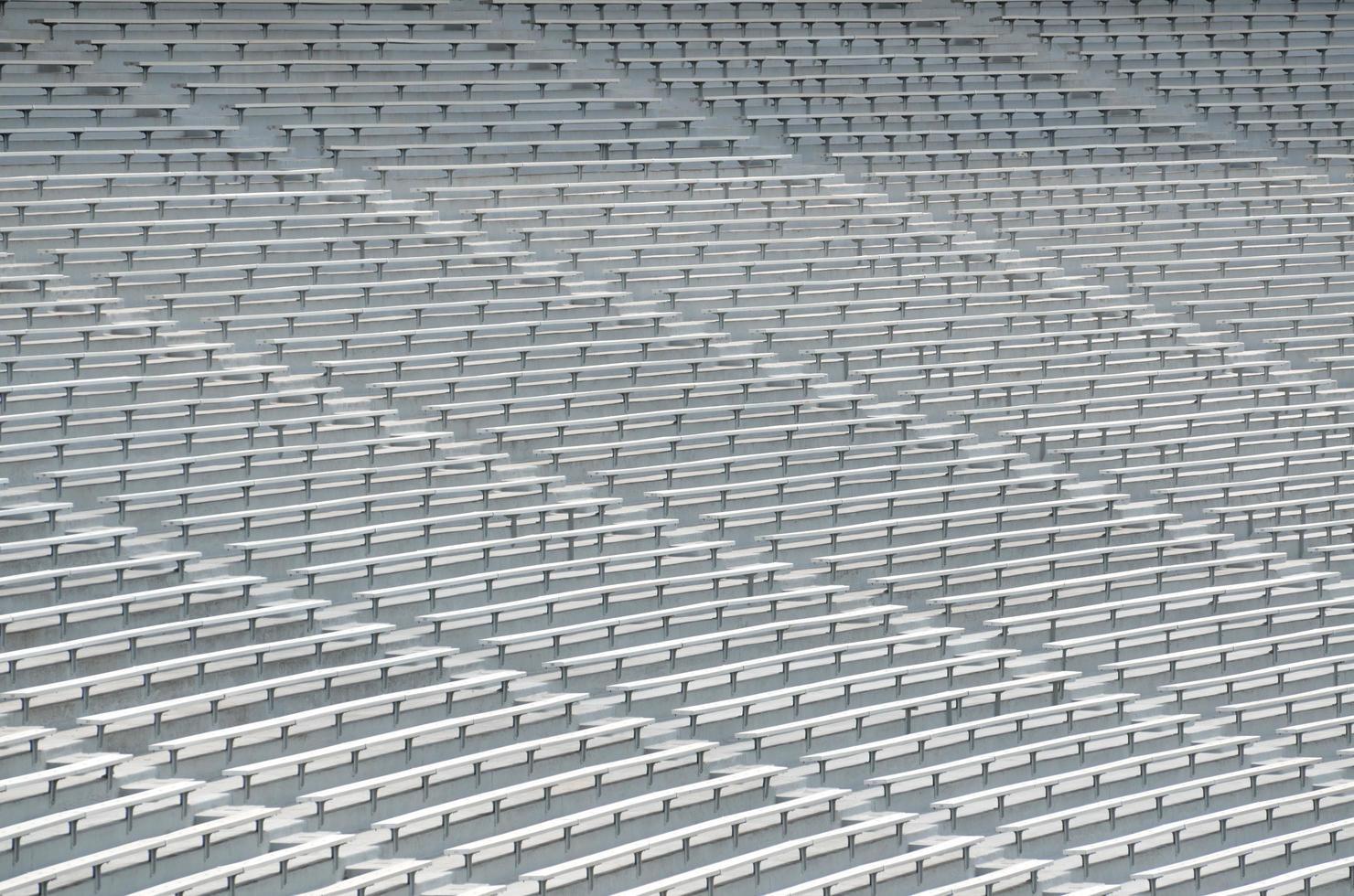stoelen in het stadion foto