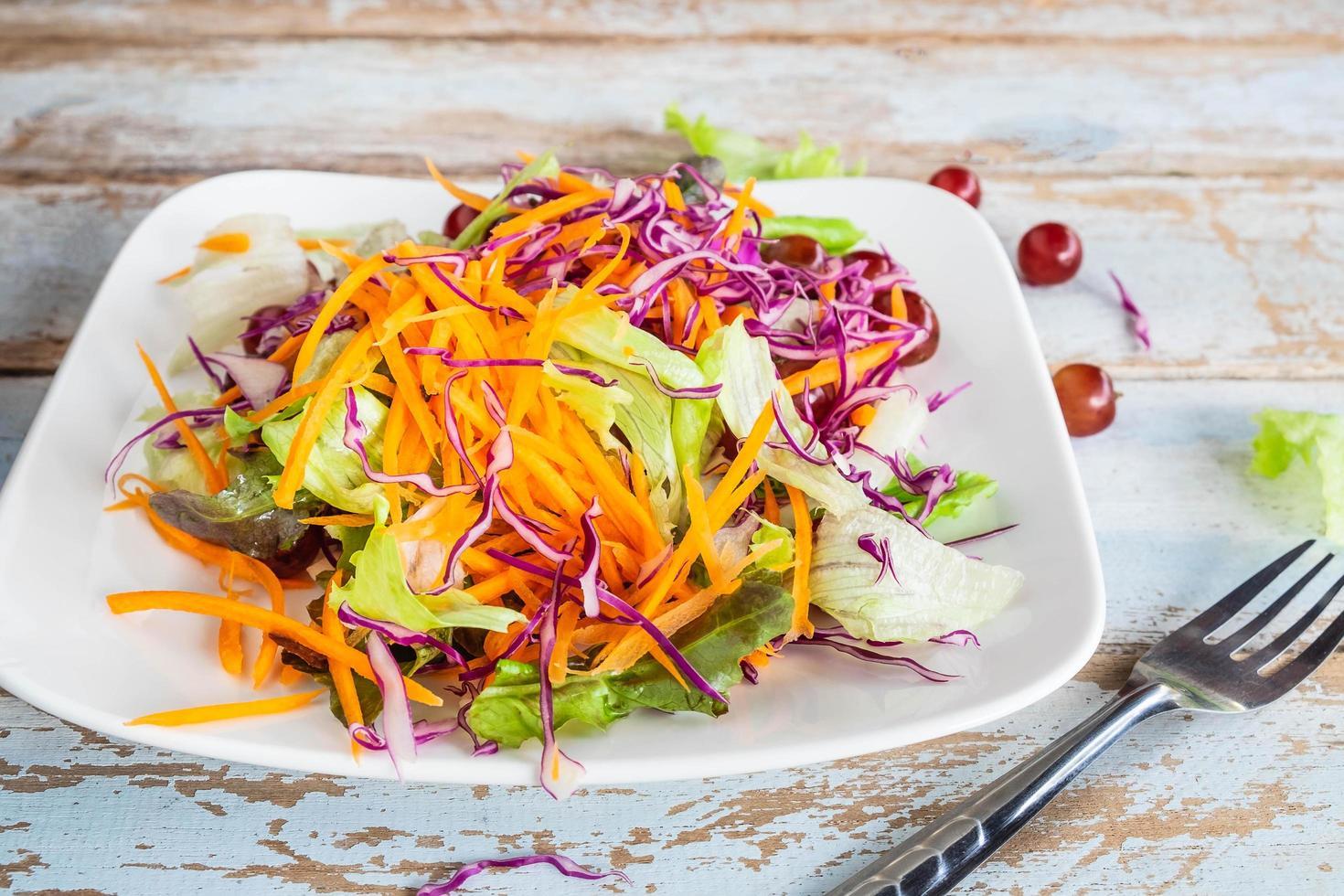 Vegetable salad on plate   photo