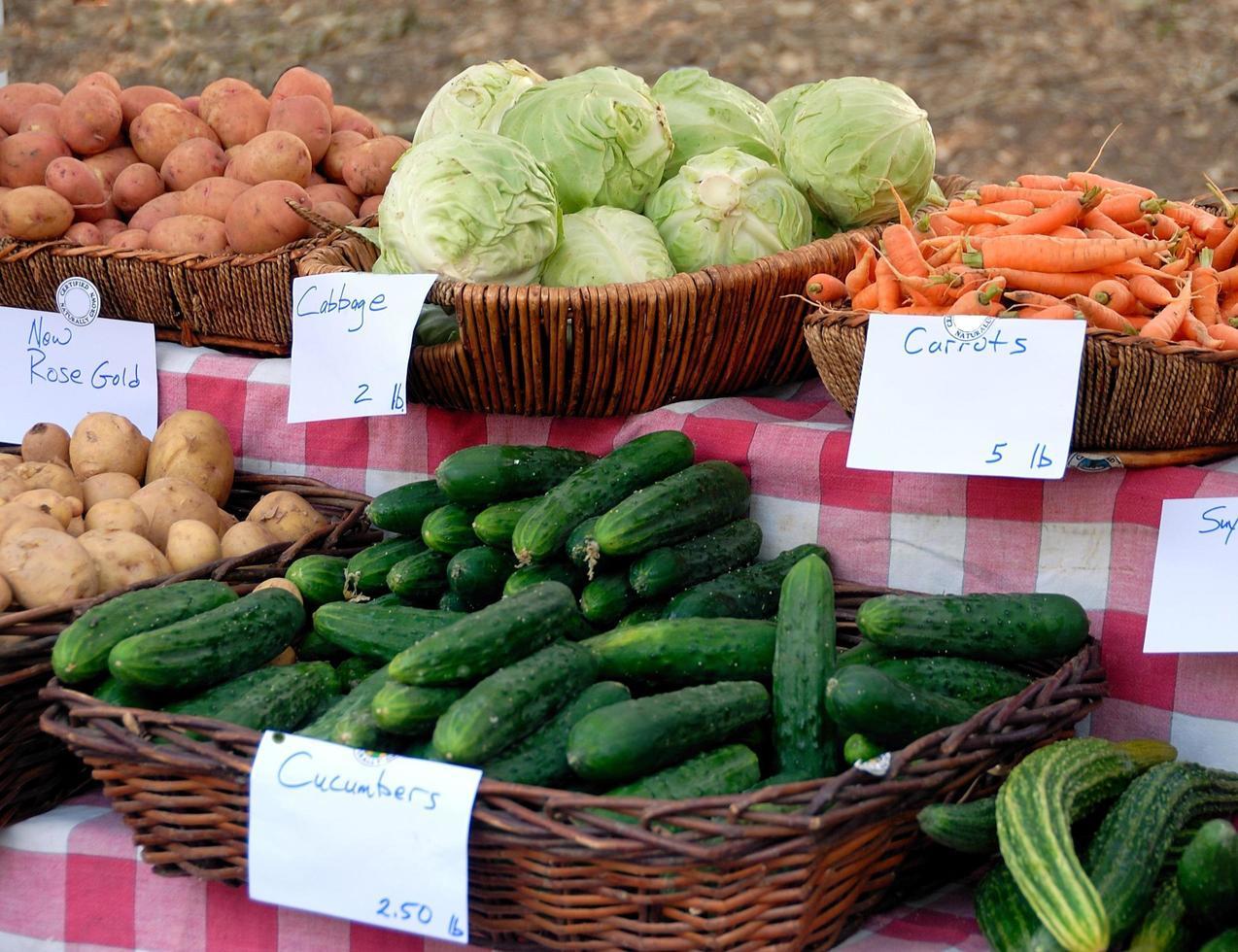 verduras para la venta foto