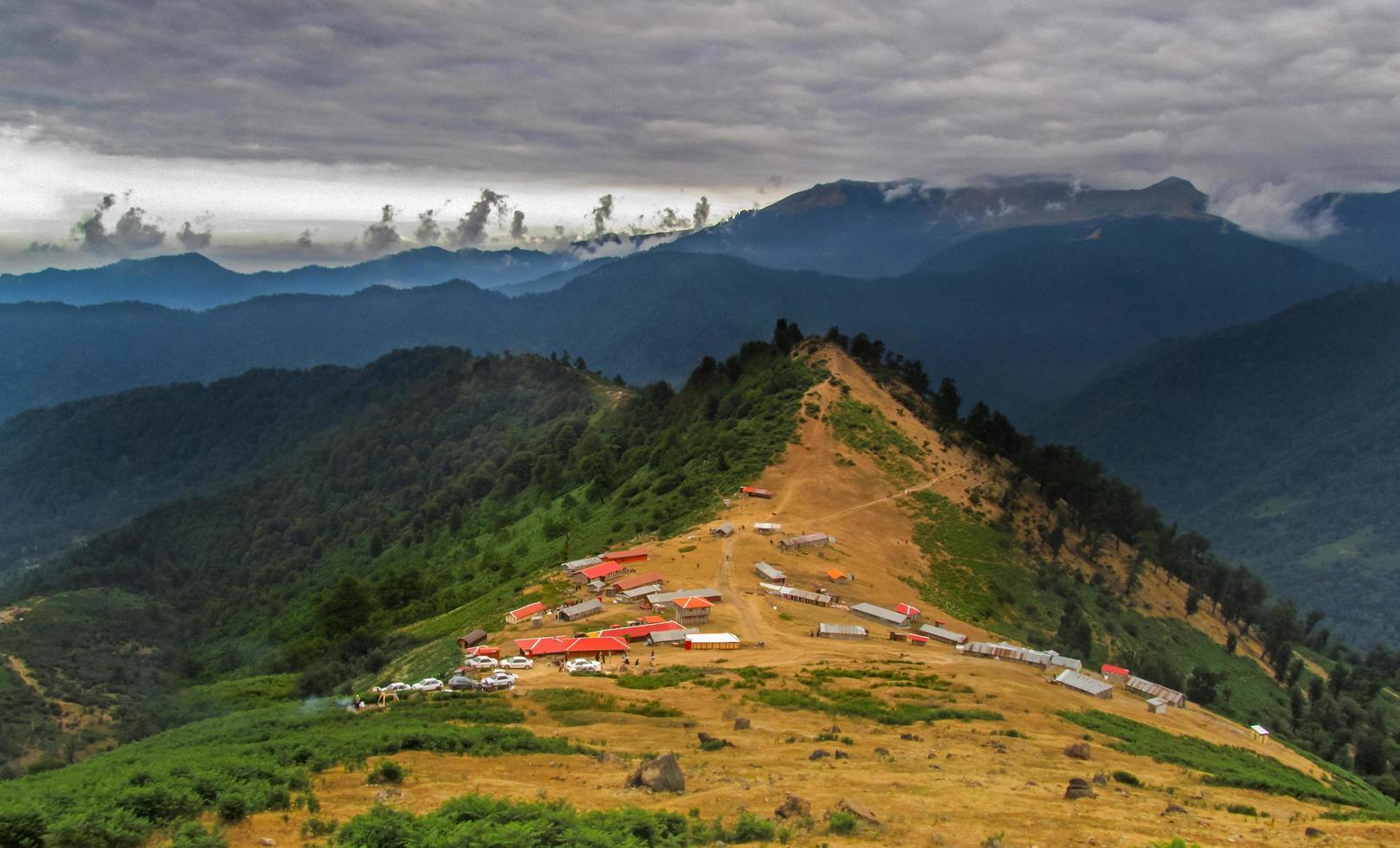 bergen van masal dorp in mazandaran stad foto