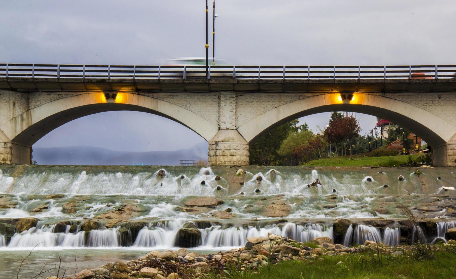 The Cheshmeh Bridge in Tonekabon City photo