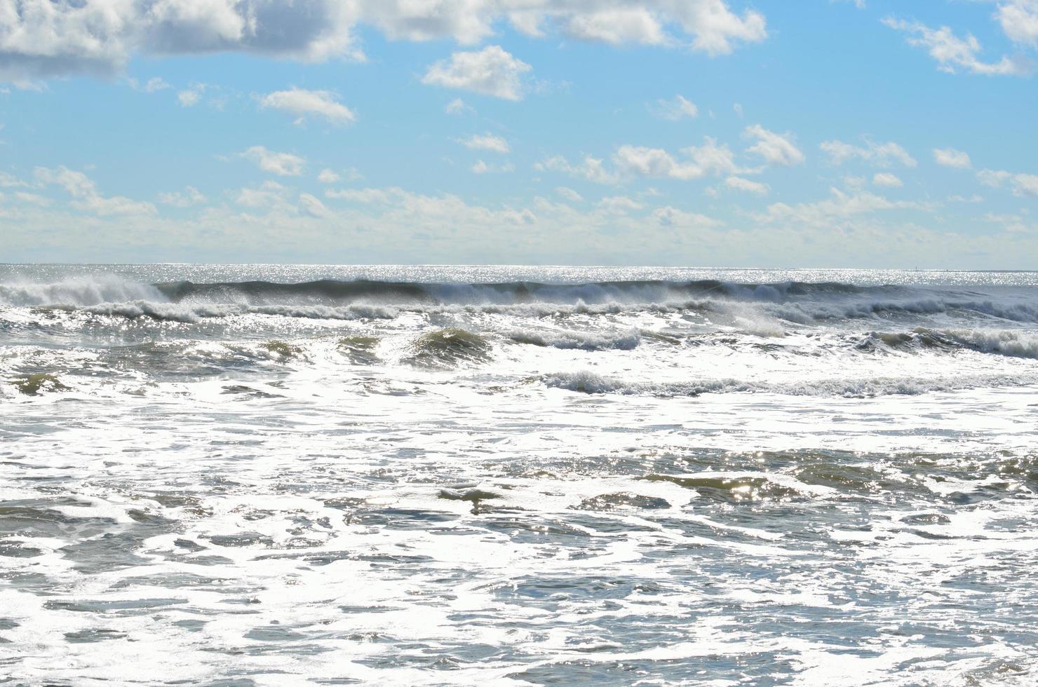 Ocean waves in summer photo