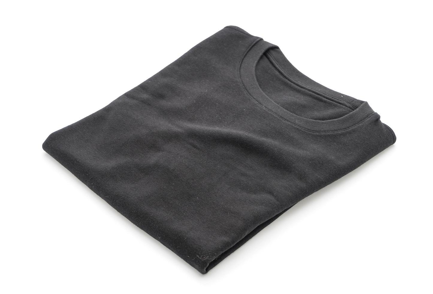 zwart gevouwen t-shirt foto