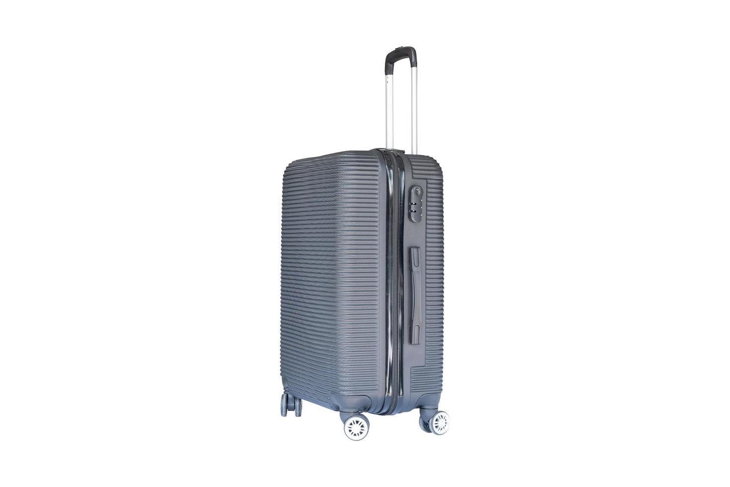 vue latérale du bagage gris photo