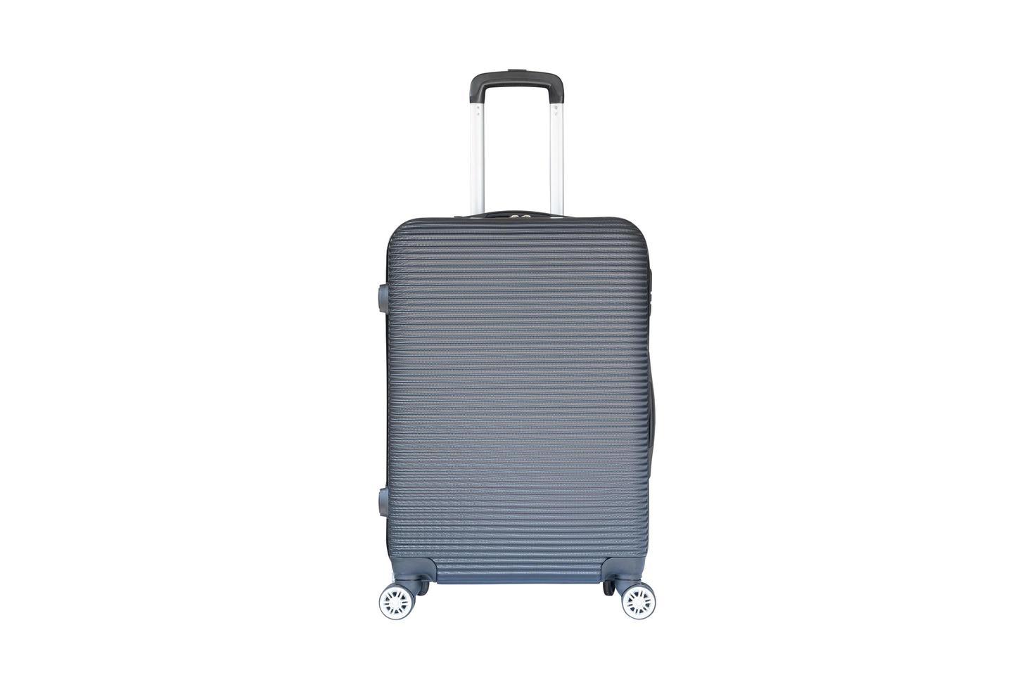 valise grise à roulettes photo
