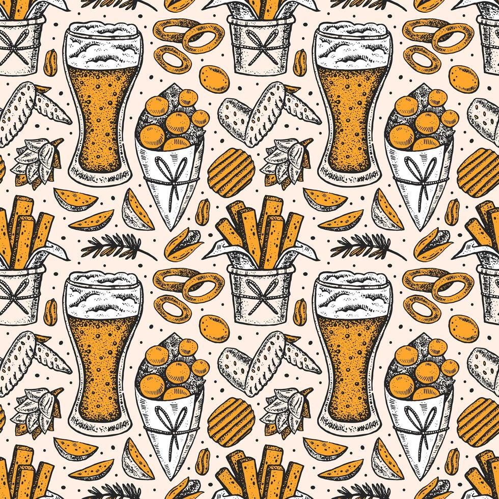 Oktoberfest de patrones sin fisuras, textura vector