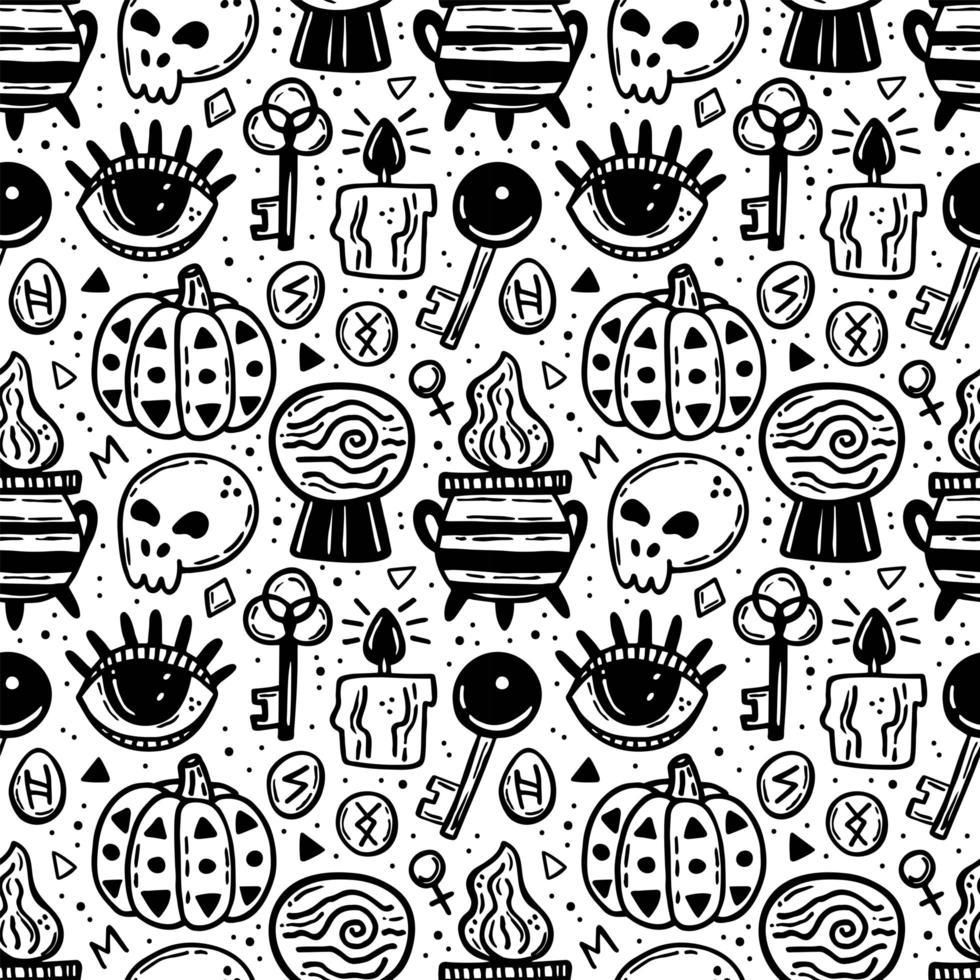 padrão sem emenda de halloween de tinta preta vetor