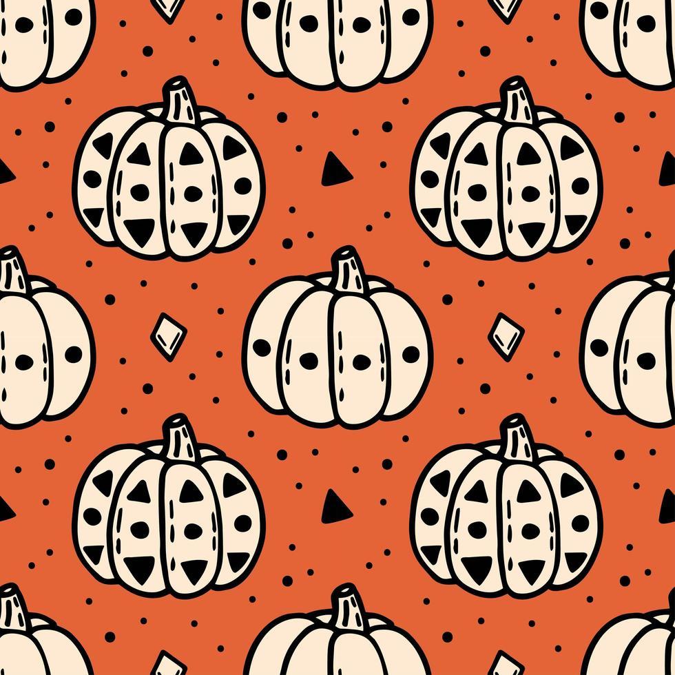 outono halloween abóbora padrão sem emenda vetor