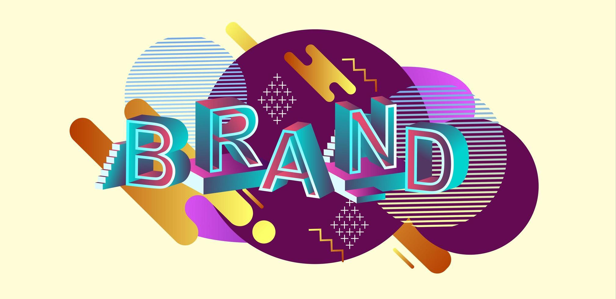 encabezado web de concepto moderno de marca vector