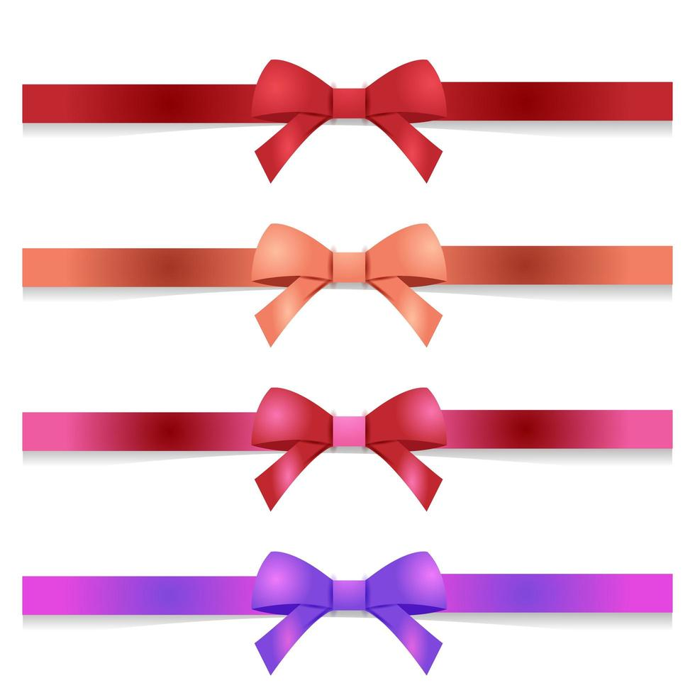 conjunto de arcos de colores vector