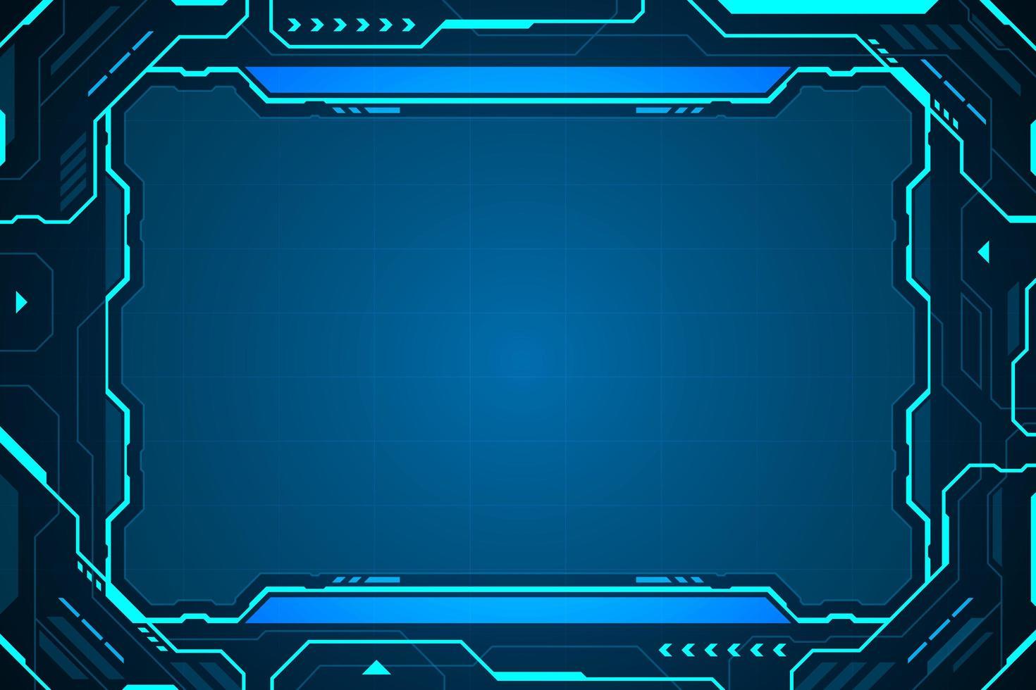 interface de tecnologia abstrata hud frame vetor