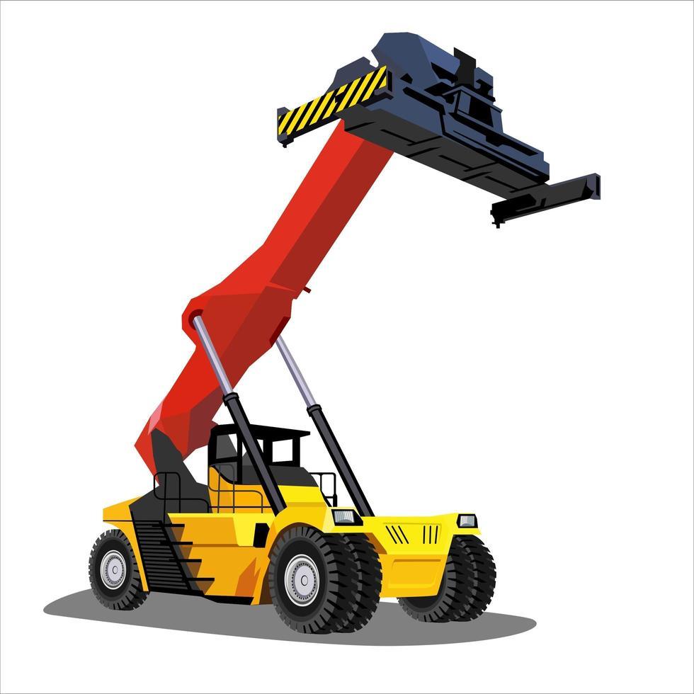 vehículo de carga pesada para la construcción vector