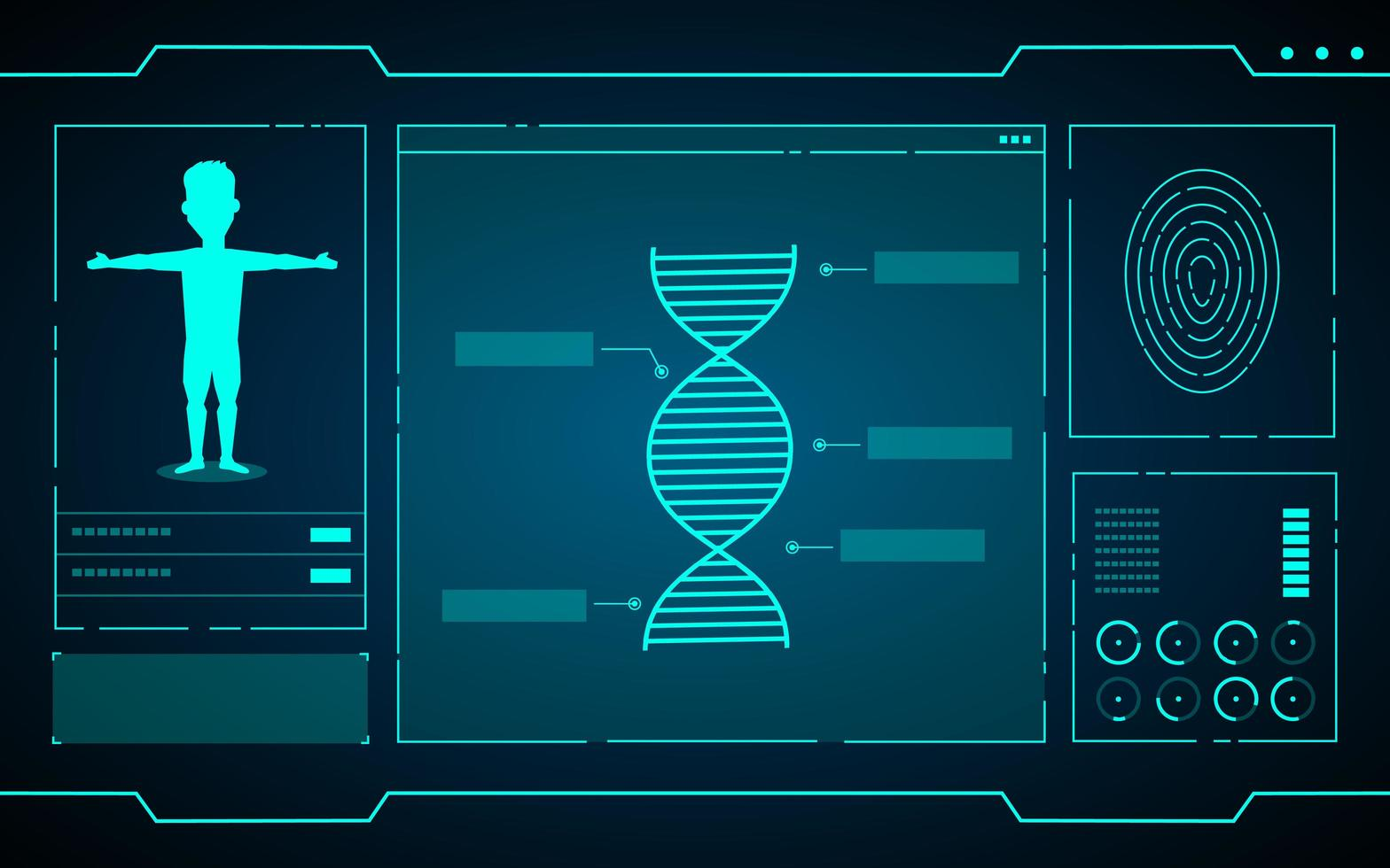 dados científicos sobre tecnologia futurística de computadores vetor