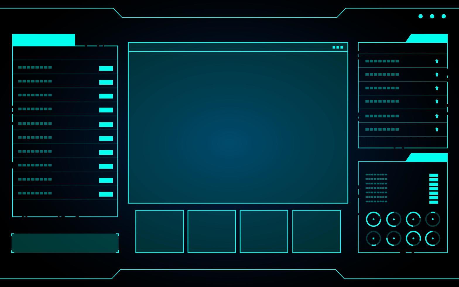 interfaz de tecnología azul hud vector
