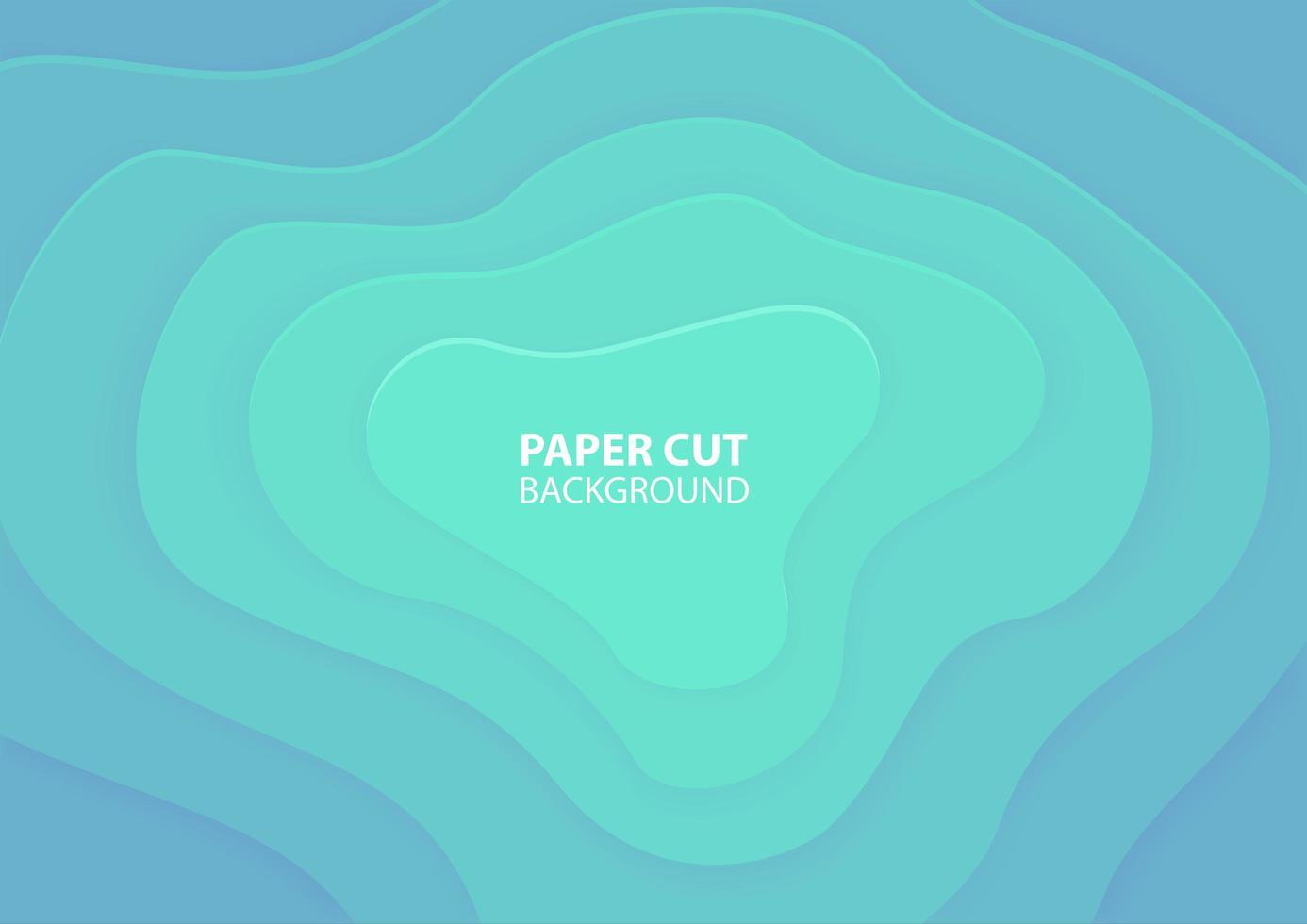 diseño de corte de papel en capas azul degradado vector