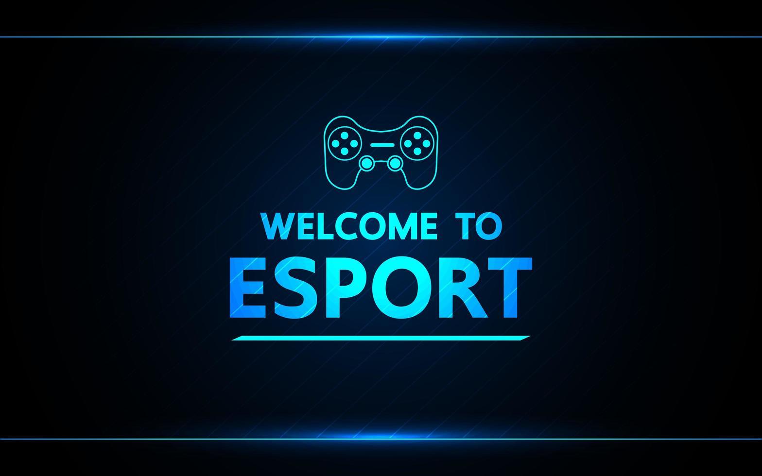 bem-vindo ao design de jogos de tecnologia e-sport vetor