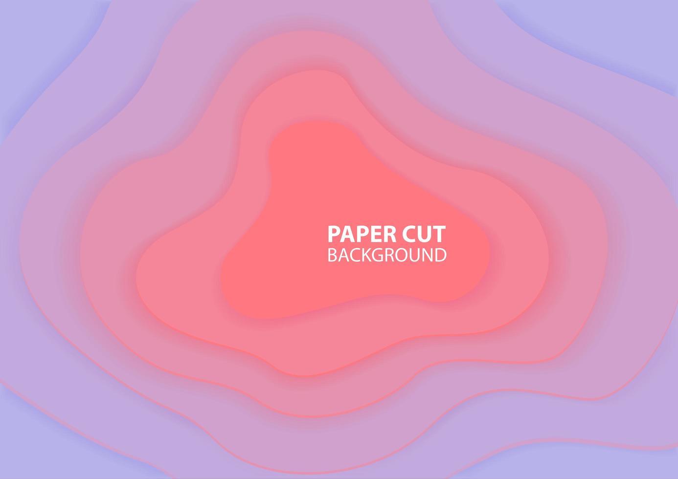 diseño de corte de papel degradado púrpura y rosa pastel vector